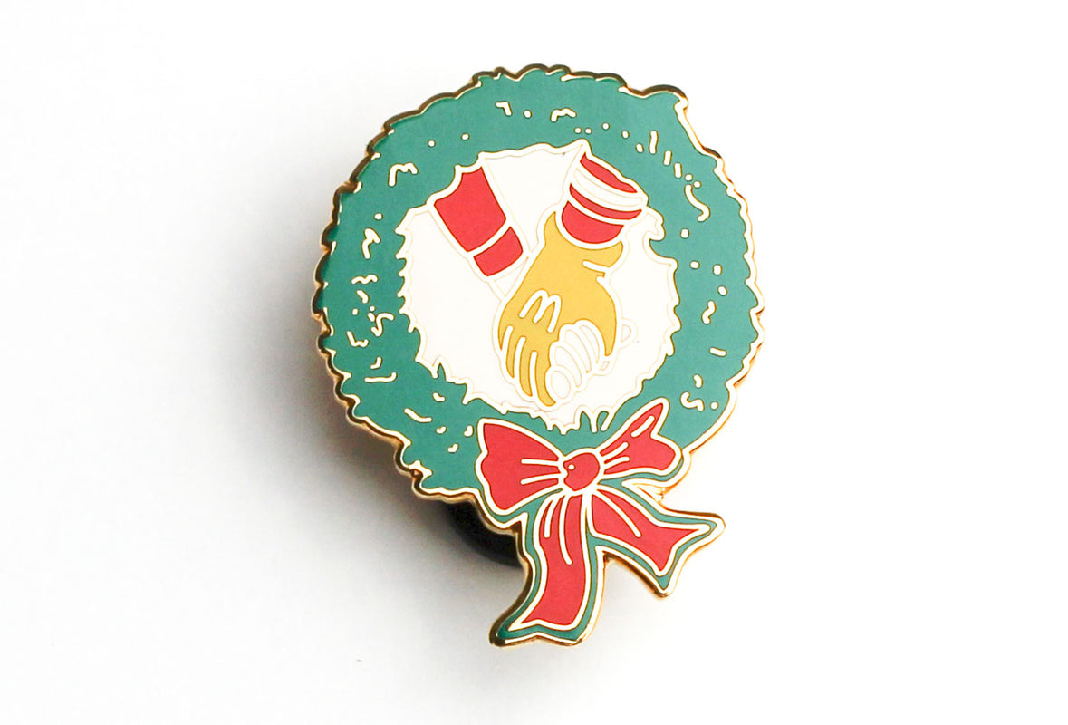 Vintage McDonald's Holding Hands Pin
