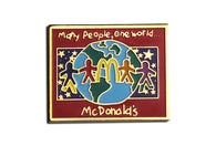 Vintage McDonald's One World Pin