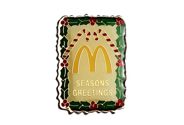 Vintage McDonald's Seasons Greetings Pin
