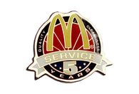Vintage McDonald's Service 5 Years Pin