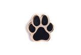 Mini Dog Paw Pin - Black