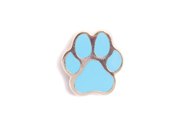 Mini Dog Paw Pin - Blue