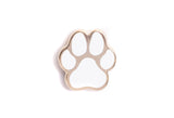 Mini Dog Paw Pin - White