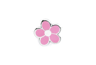 Mini Flower Pin - Light Pink and Silver