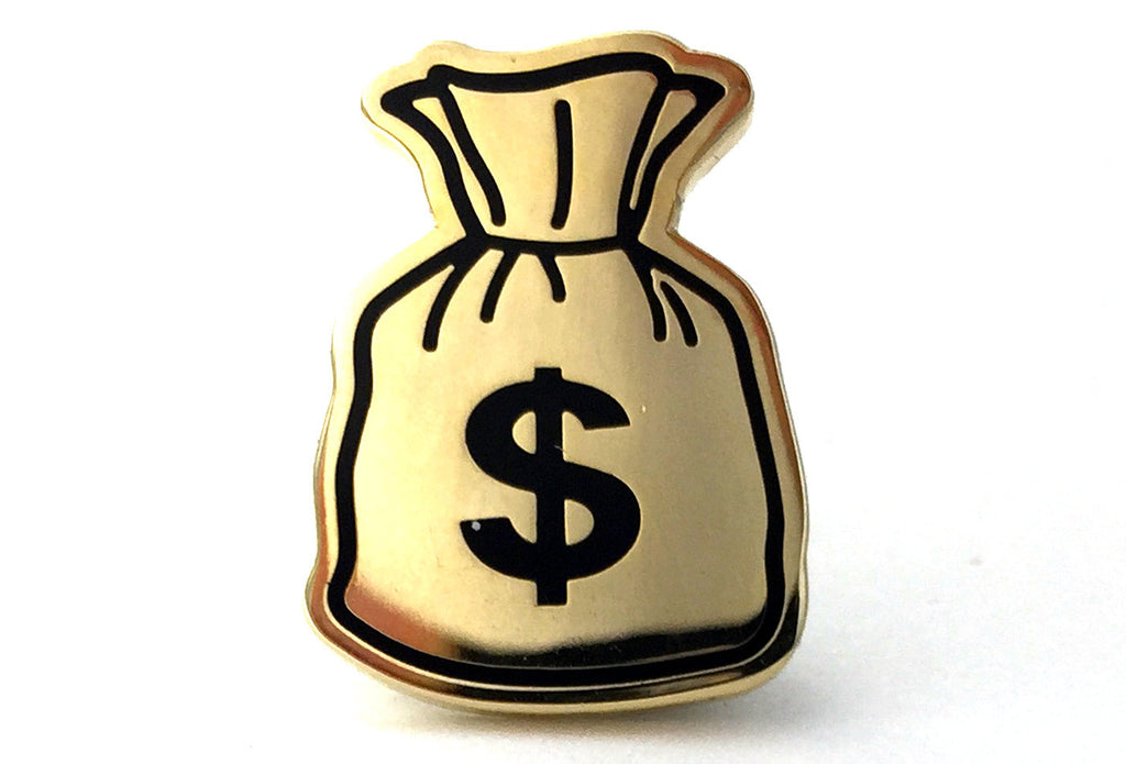 Money Bag Pin - Gold