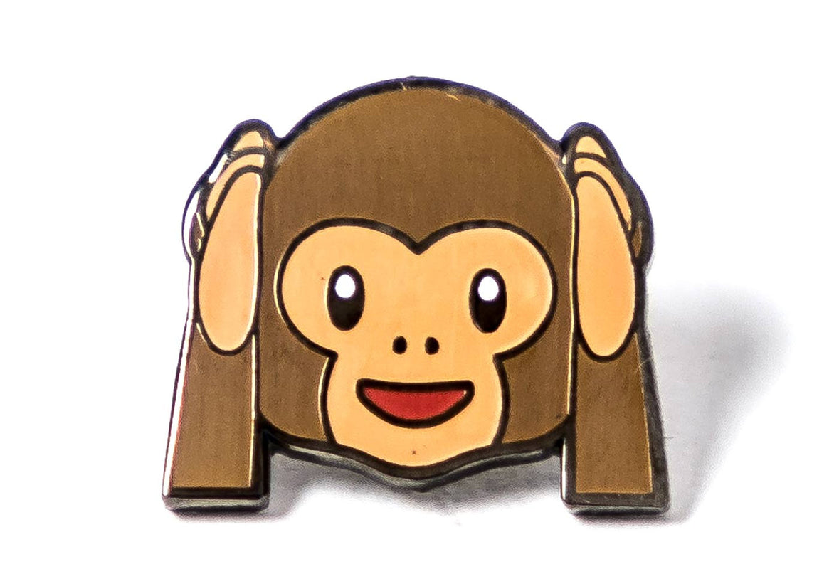 Monkey Hear No Evil Pin