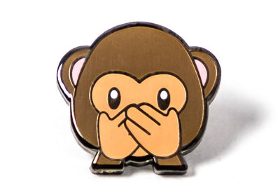 Monkey Speak No Evil Pin