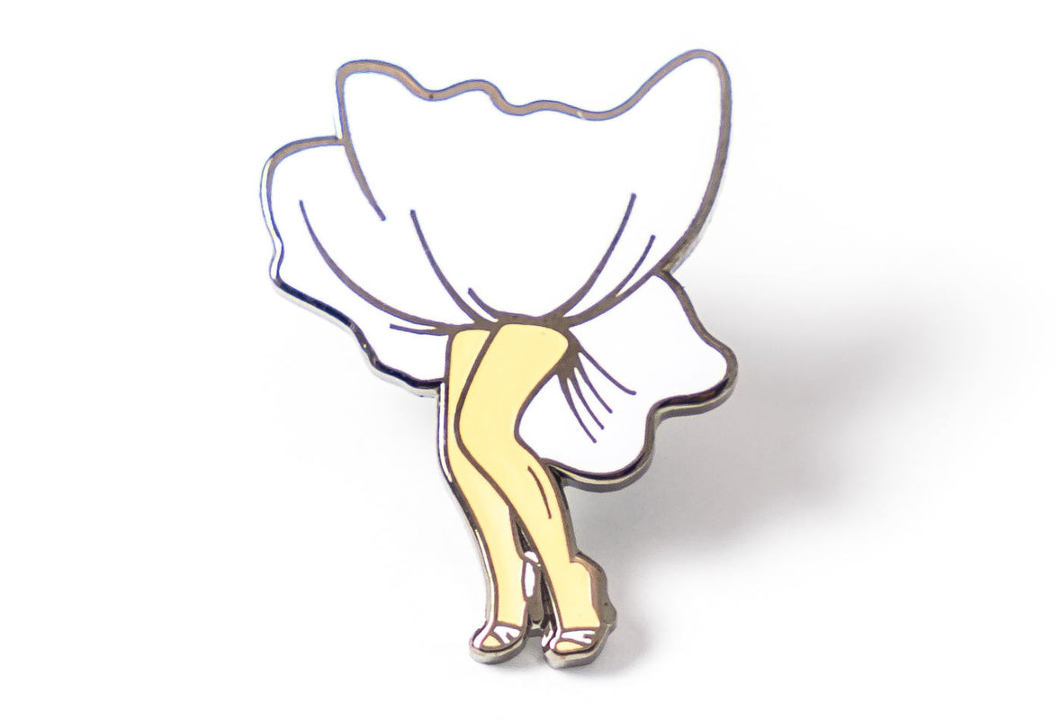 White Dress Pin