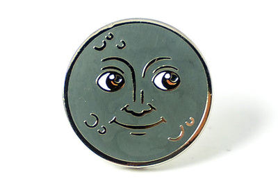 Moon Face Pin