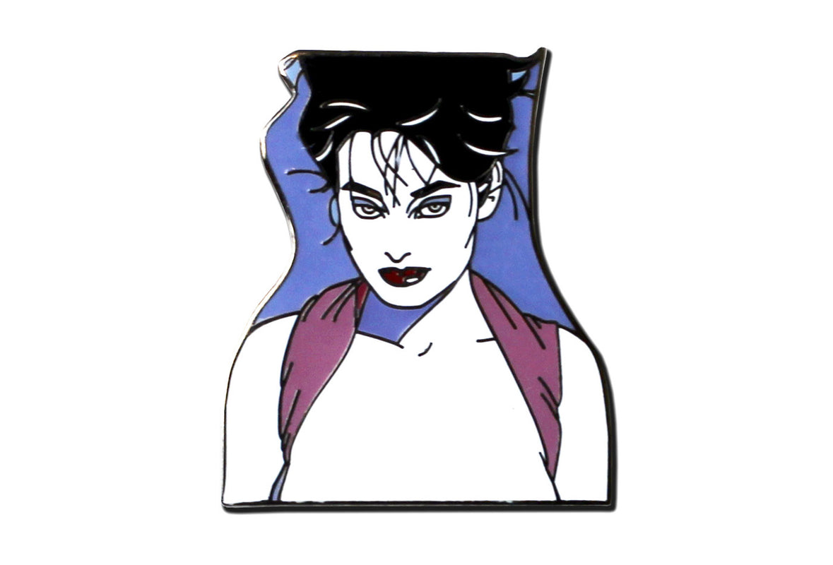 Patrick Nagel - Pin-up With Her Hair Up Pin