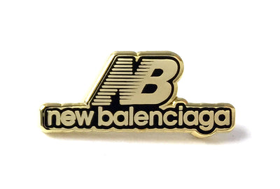 New Balenciaga Pin - Black and Gold
