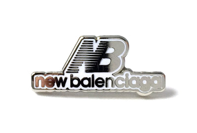 New Balenciaga Pin - White and Silver