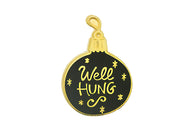 """Well Hung"" Bulb Pin - Gold on Black"