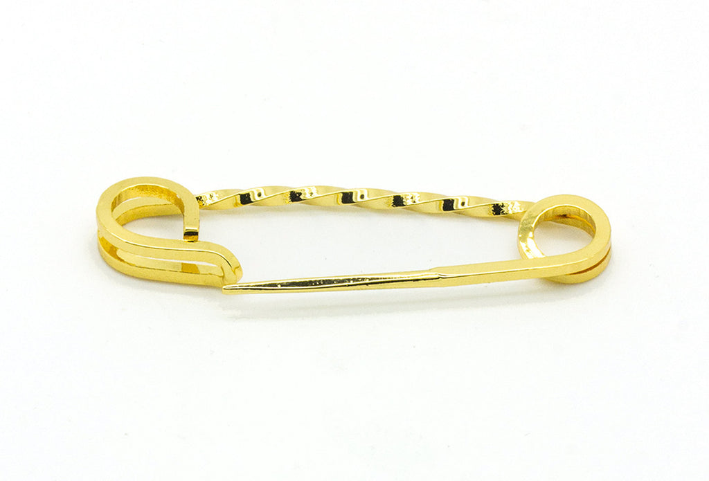 Vintage Inspired Safety Pin - Polished Gold