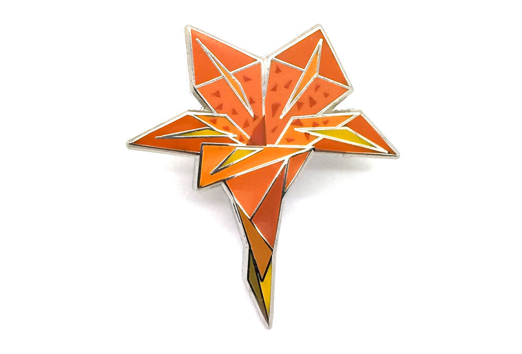 Luxury Lily Pin - Orange