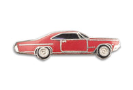 Vintage Red Muscle Car pin 2
