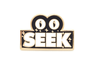 Lyst Seek Pin - Black and Gold