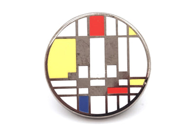 Primary Color Smiley Pin