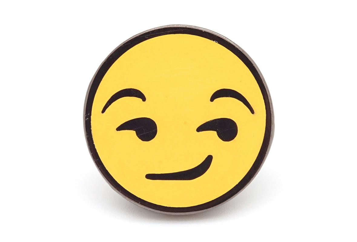 Smirking Face Pin