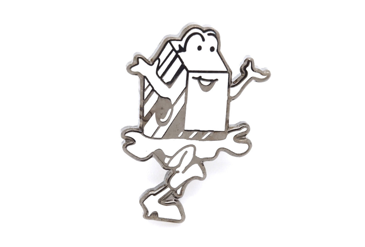 Cant Skate Milk Pin - White/Silver