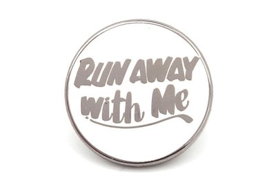 Run Away Pin - White/Silver