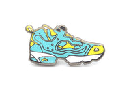 Fury Sneaker Pin - Teal/Yellow