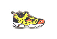 Fury Sneaker Pin - Red/Yellow