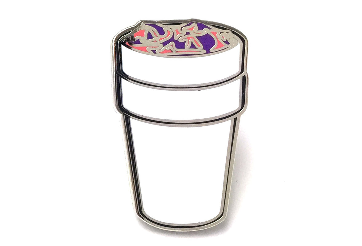 Drank Cup Pin - Pink and Purple