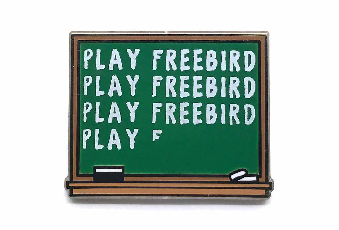 Freebird Chalkboard Pin