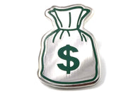 Money Bag Pin - Silver
