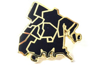 J Frost Bronx Borough Pin - Black and Gold
