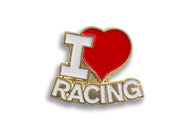 Vintage I Love Racing Pin