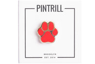Mini Dog Paw Pin - Red