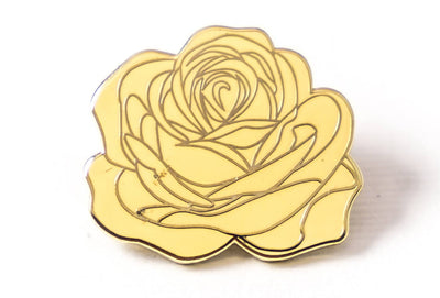 Dedication Rose Pin - Cream
