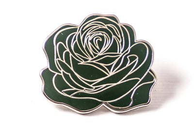 Dedication Rose Pin - Green