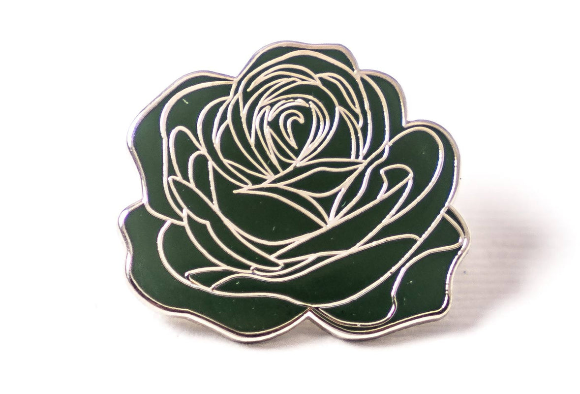 Careaux - Dedication Rose Pin - Green