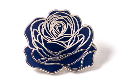 Dedication Rose Pin - Blue