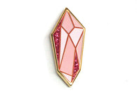 Rose Quartz Crystal Pin
