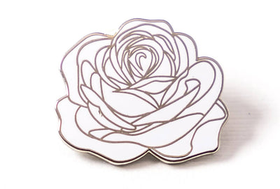 Dedication Rose Pin - White