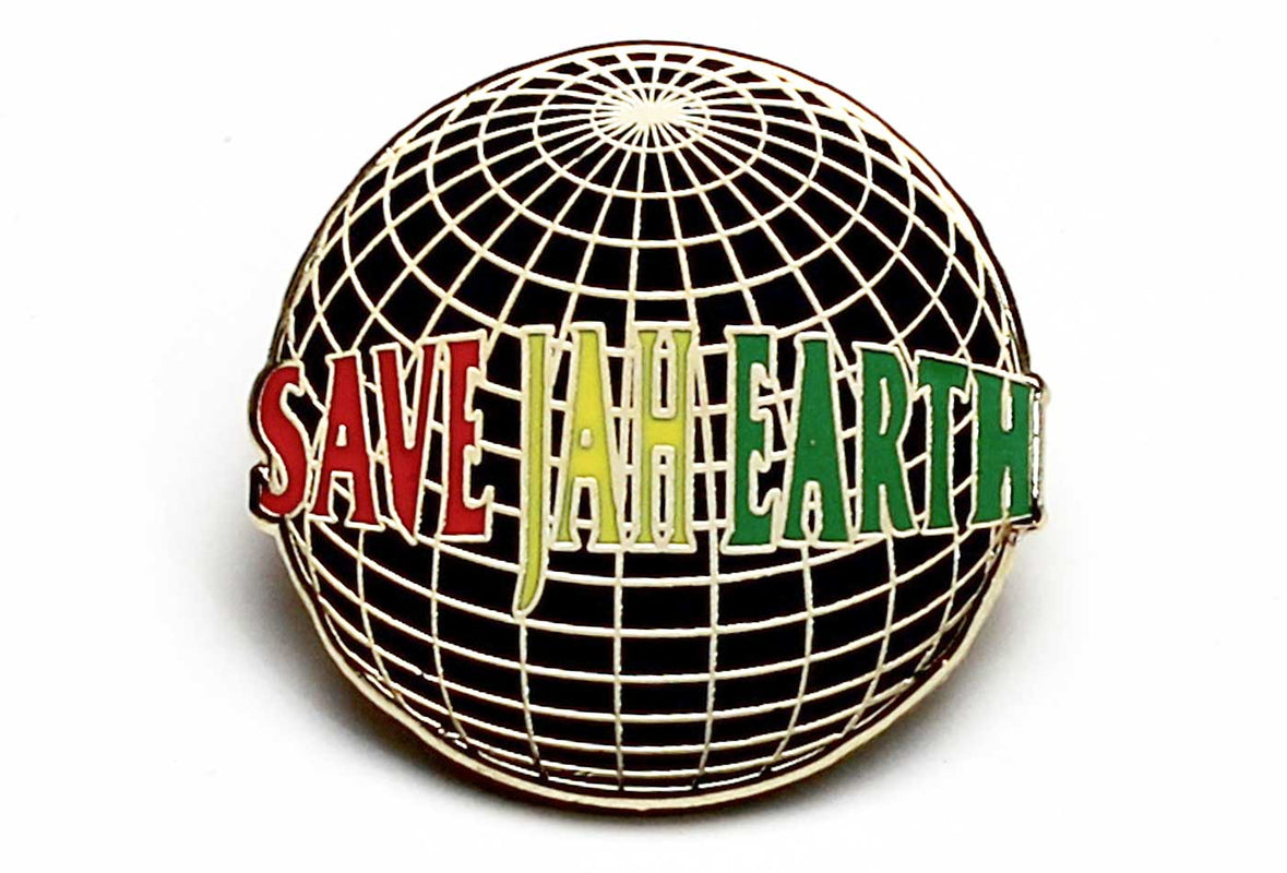 Save Jah Earth Pin