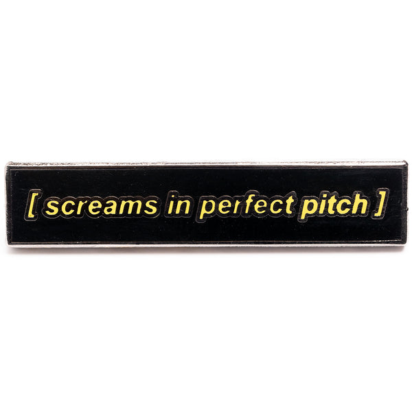 Closed Captions - Pitch Perfect Scream Pin