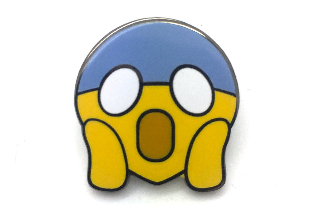 Horrified Face Pin