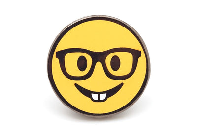 Nerd Smiley Pin