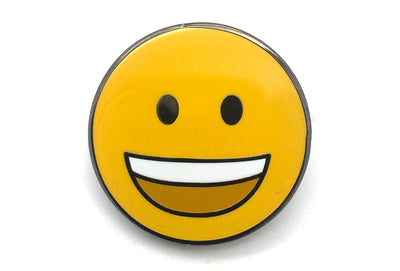 Open Mouth Smiling Face Pin