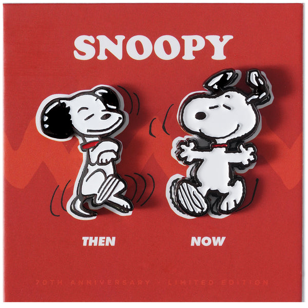 PEANUTS Then and Now - Snoopy Pin Set