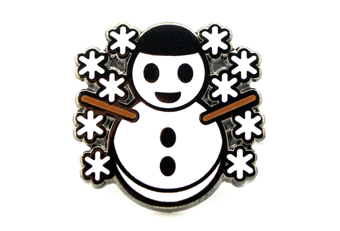Snowman with Snowflakes Pin