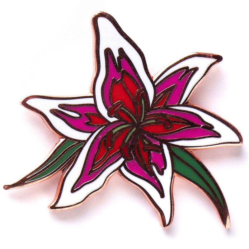 Flower Series - Stargazer Lily Pin