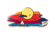 Summertime Sunset Pin