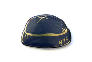 Tiny Hats - Blue and Black Hat Pin