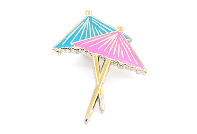 Cocktail Umbrellas Pin
